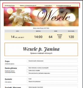 Wizytówka firmy w dokumencie PDF z ofertą